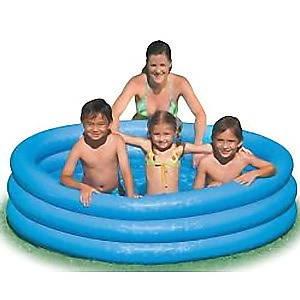 Голубой надувной бассейн intex, фото 2