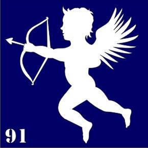 Трафарет для временного тату №91