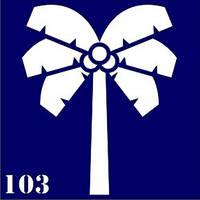Трафарет для временного тату №103