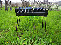Мангал - чемодан на 12 шампуров с регулировкой высоты, 2 мм