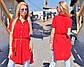 """Летняя женская стильная туника-рубашка 255 """"Штапель Воротничок"""" в расцветках, фото 2"""