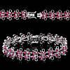 """Элегантный браслет """"Петельки"""" с рубинами  студия LadyStyle.Biz"""