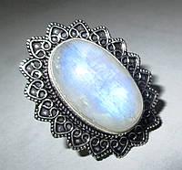 """Серебряный перстень """"Звездный"""" из натурального лунного камня , размер 17,4 от студии LadyStyle.Biz, фото 1"""