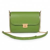 Женская кожаная сумка через плечо Katerina Fox зеленого (greenery) цвета из натуральной кожи (KF-7)