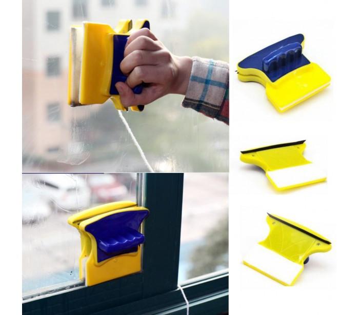 Магнитная щетка для двухстороннего мытья стекол Cleaning Double Side Glass Cleaner, для мытья окон
