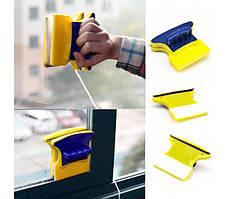 Магнітна щітка для двостороннього миття скла Cleaning Double Side Glass Cleaner, для миття вікон