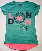 Детская футболка на девочку (9–12 лет) — купить оптом летние модные качественные в одессе 7км Турция, фото 1