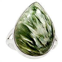 """Серебряный перстень  с натуральным серафинитом """"Волшебная капля"""" , размер 18 от студии LadyStyle.Biz, фото 1"""