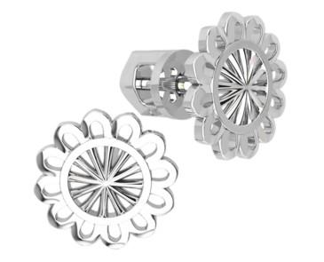 Серьги серебряные гвоздики Солнышко 40964