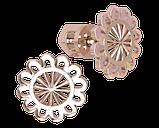 Серьги серебряные гвоздики Солнышко 40964, фото 2