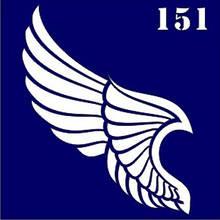 Трафарет для временного тату №151