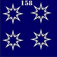 Трафарет для временного тату №158