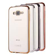 Чехол силиконовый прозрачный на Samsung A500 Galaxy A5 (2015)