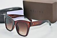 Солнцезащитные очки квадратные Celine коричневые, фото 1