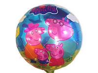 """Шарики воздушные фольгированные в стиле  """" Свинка Пеппа""""  диаметр 45 см."""