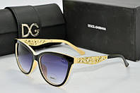 Солнцезащитные очки Dolce & Gabbana черные с бежевым