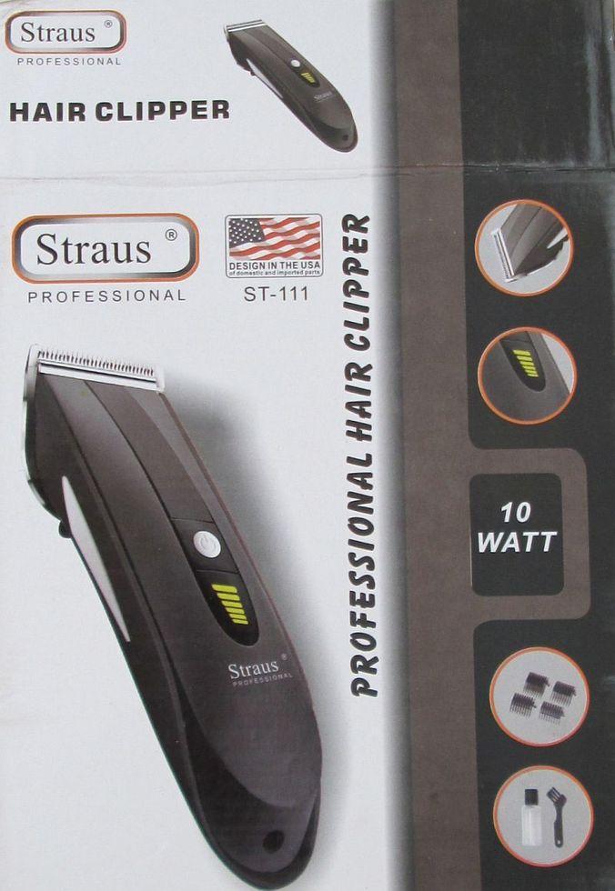 Аккумуляторная машинка для стрижки Straus St-111