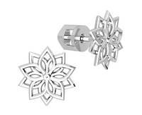 Серьги серебряные гвоздики Снежинка 40972