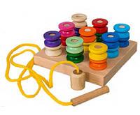 Деревянная игрушка Пирамидка Катушки