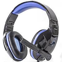 Супер гарнитура гарнитура INGEL SY968 черно-синяя для компьютера USB цифровая проводная игровая с микрофоном