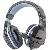 Игровая гарнитура NUBWO 3000 черно-синяя с микрофоном универсальная для общения jack 3.5mm наушники музыка