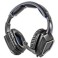 Музыкальная гарнитура SADES Sprit Wolf R9 черно-синяя игровая с микрофоном для компьютера ноутбука jack 3.5mm