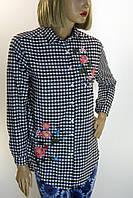 Жіноча сорочка в клітку з вишивкою  Comlex