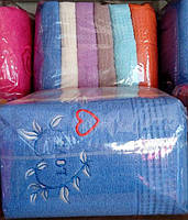 Полотенца лицевые 50*100 см махровые