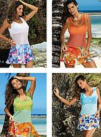 Цветочное пляжное плятье Марко М415