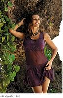 Однотонное пляжное платье Марко М414