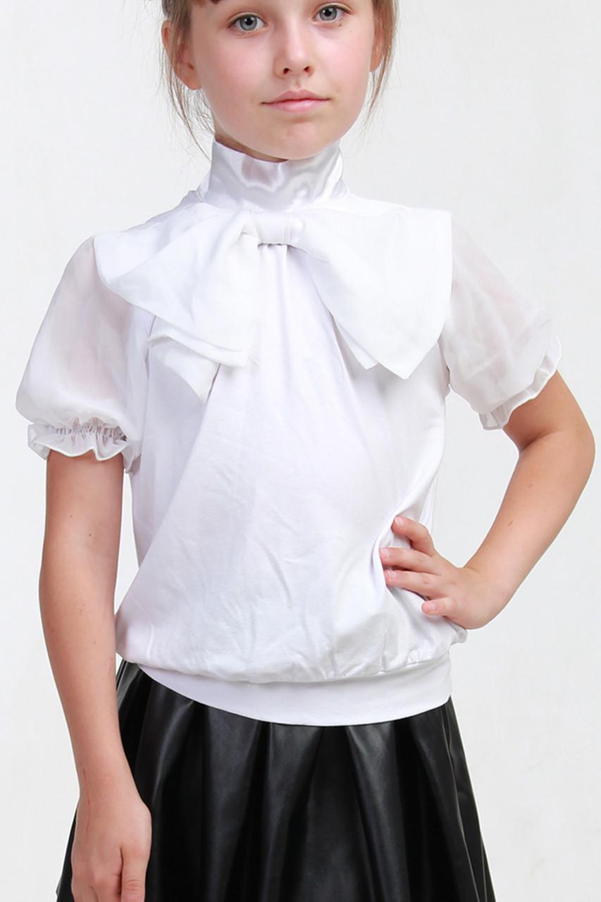 34e1f978788 Блузка с бантом в школу 021 - DS Moda - женская одежда оптом от  производителя в