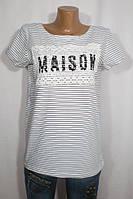 Практичная женская футболка Maison на лето