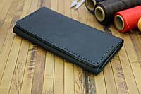 Большой мужской клатч - кошелёк синий (283003)