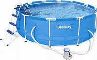 Бассейн BestWay 28418 каркасный Ø 366x100 см., лестница и фильтр- насос