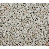 Природный камень галька мраморная белая Верона 4-8 мм.