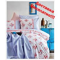 Набор постельное белье с покрывалом пике Karaca Home - Melina pembe евро