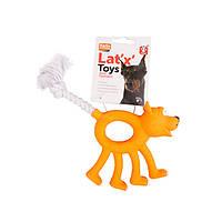 Игрушка Karlie-Flamingo Animal With Rope для собак латекс, 12 см