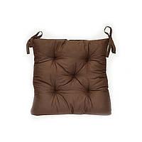 Подушка на стул 40х40см коричневая