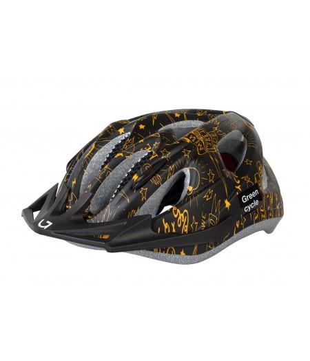 Шлем детский Green Cycle Fast Five (черно-золотистый)