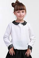 Детская белая модная блузка 012
