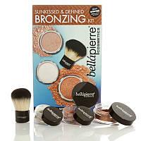 Набор рассыпчатых минеральных пудр для лица и тела с эффектом загара Bellapierre Sunkissed & Defined Bronzing
