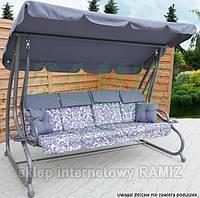 Садовая качеля - диван 4-х местная раскладная В НАЛИЧИИ 3 цвета НАЛОЖКА СераяНОВИНКА !!!