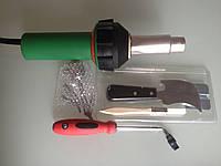 Фен для сварки и пайки линолеума и пластиков в комплекте с насадками HERZ  H&B-1600 PE
