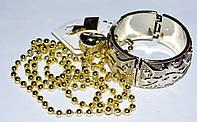 Набор, пластик, светло-желтый, браслет, бусы, кольцо, серьги 8_9_23а2