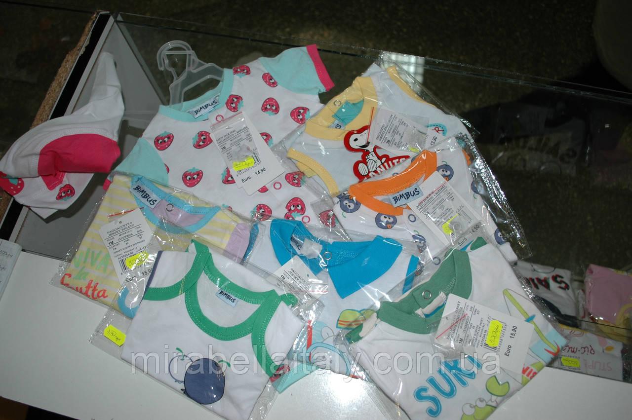Детская одежда Итальянского бренда bimbus 1-3 мес. оптом