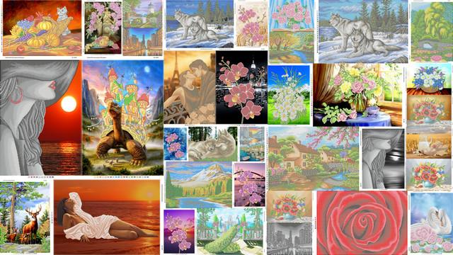 Картины для вышивания бисером А2 (40х60см)