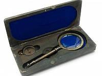 Подарочный морской набор в футляре (Лупа и компас) (24х11х4,5 см) ( 24509)