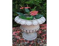 Садовая фигура из стекло-фиброцемента Большой цветочный горшок 49,5×49,5x39 см