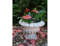 Садовая фигура из стекло-фиброцемента Малый цветочный горшок 33x33x25 см