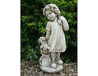 Садовая фигура из стекло-фиброцемента Девушка из провинции 26х20.5х60.5 см